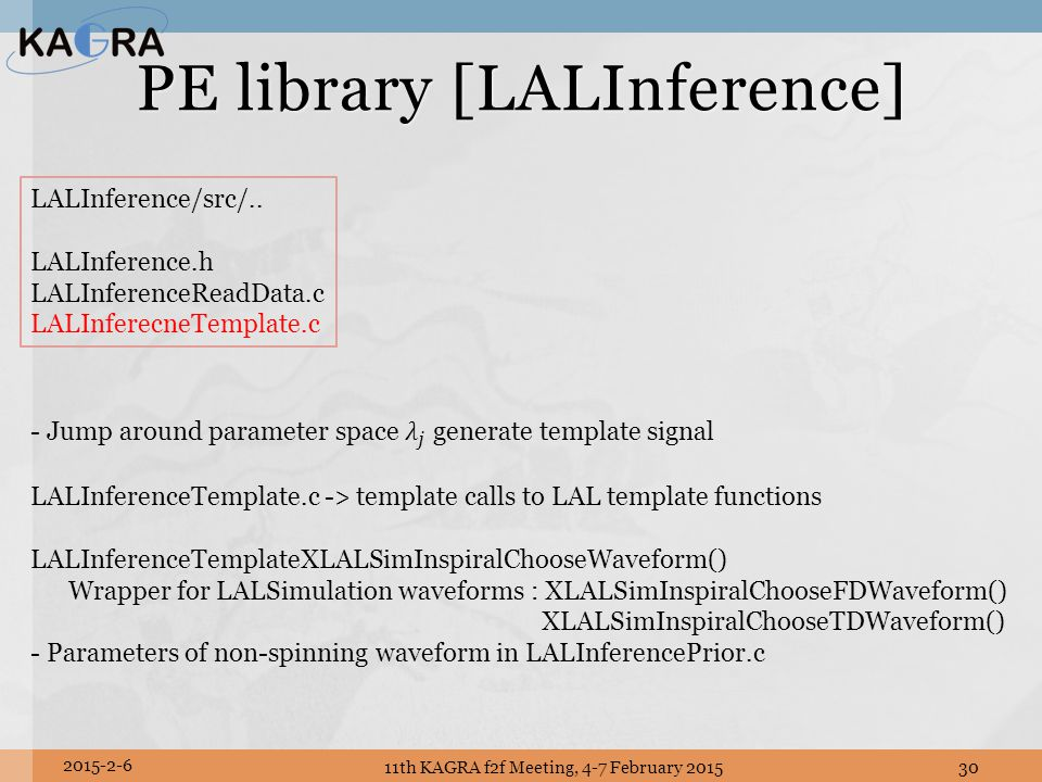 PE library [LALInference]